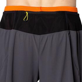 asics Fujitrail Shorts Men graphite grey/marigold orange